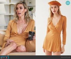 Urban Outfitters Goldmine Skort Romper worn by Kristin Cavallari on Very Cavallari Kristin Cavallari, Passion For Fashion, Spring Summer Fashion, Polka Dots, Cold Shoulder Dress, Rompers, Fashion Outfits, My Style, Skort