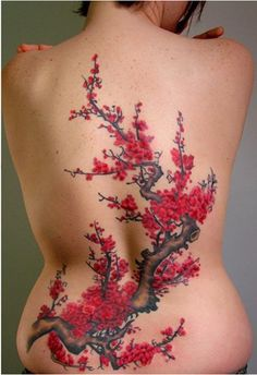 Image detail for -Off the Map Tattoo : Tattoos : Stina Sardinha : Cherry Blossom Branch ...