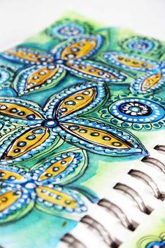 Doodle drawings, doodle art, art journal pages, art journals, beautiful d. Doodle Art, Doodle Drawings, Art Journal Pages, Art Journals, Visual Journals, Alisa Burke, Watercolor Journal, Watercolour Art, Art Gallery