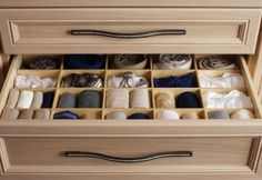 California Closets DFW Luxurious Walk-In - birch drawer inserts