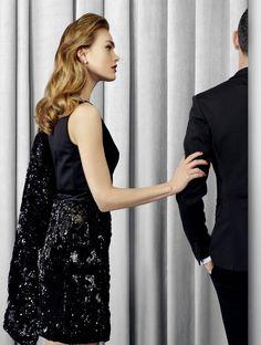 Perles brillantes pour tenue de soirée élégante. Weill , Collection automne/hiver 2015.