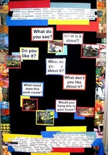 Thinking Critically Bulletin.  I have a GREAT spot for this is in my art room!