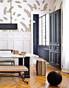 Iron bench base   studio space for gilles + boissier   dpages blog #zincdoor #colorcrave #black