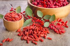 We're going crazy for goji berries over here. And pretty soon you will too. Don't let their tiny size fool you – not only are they the rulers of the superfood kingdom, they're also incredibly versatile (not to mention mighty delicious). Granola, Muesli, Superfoods, Dried Goji Berries, Benefits Of Berries, Dog Food Recipes, Healthy Recipes, Micro Nutrients, Berry