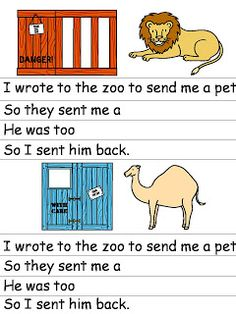 Angol feladatok, mondókák, színezők Zoo Activities Preschool, Reading Activities, Preschool Activities, The Ocean, Zoo Animals, Wild Animals, Shared Reading, Read Aloud, School Projects