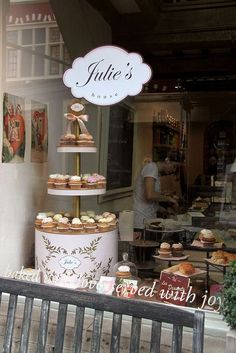 Fariya bought my birthday cake from this delish bakery in Ghent, Belgium. White chocolate mousse and speculos base. Bakery Decor, Bakery Cafe, Cafe Restaurant, Cupcake Shops, Cupcake Boxes, Bakery Business, Cupcakes, Cafe Shop, Pastry Shop