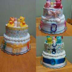 Bathrime diaper cakes