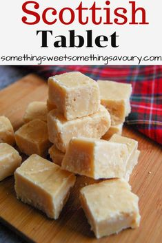 Learn how to make traditional Scottish tablet with my easy step by step instructions! The perfect sweet for a Burns night celebration! Scottish Tablet Recipes, Irish Recipes, Sweet Recipes, Fudge Recipes, Candy Recipes, Dessert Recipes, Burns Night Recipes, Scottish Desserts, Homemade Sweets