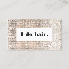 Faux Silver Sequins Bold Hair Stylist Salon Business Card