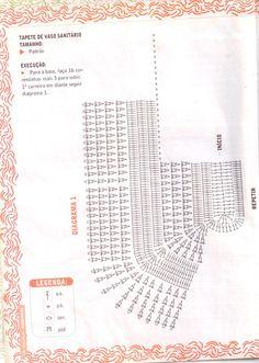 TAPETE DE CROCHÊ OVALa para base do vaso sanitário - Beth do blog http://fazendoarte-arteemcroch.blogspot.com.br/