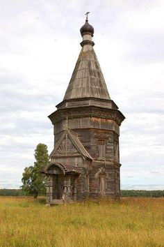 Abandoned Russian church in Krasnaya Lyaga. Reportedly it was built in 1655.
