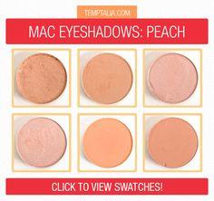 MAC Eyeshadow Swatches: Peach