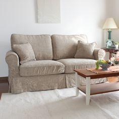 country sofa  アメリカンカントリーカバーリングA型2.5人掛けソファ/308-1生地使用/裾ストレートタイプ