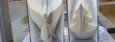 Buchseiten zu Kunstwerken falten