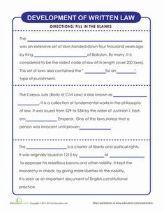 Civics worksheets middle school