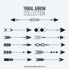 Collection of tribal arrows Free Vector