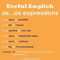 Useful English - as.as expressions Learn English Grammar, English Vocabulary Words, English Phrases, English Idioms, English Language Learning, English Words, Teaching English, English Vinglish, English Course