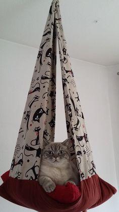 Katze: Schlafplätze - Katzenschaukel - Motiv Katze - ein Designerstück von Walczuchs bei DaWanda