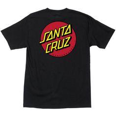 Santa Cruz Classic Dot T-Shirt - Black