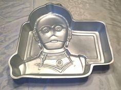 Vintage Star Wars C3PO Wilton Cake Pan Tin 1983 Lucas Films