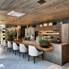 Modern Kitchen Interior kitchen inspirations - Tips for traveling on a budget from a girl who travels a lot on a budget! Modern Kitchen Design, Interior Design Kitchen, Room Interior, Modern Outdoor Kitchen, Modern Home Bar, Outdoor Kitchen Bars, Modern Contemporary Homes, Outdoor Kitchens, Interior Modern