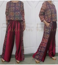 Jumputan Kulot Batik, Mode Batik, Batik Kebaya, Blouse Batik, Batik Dress, Frock Fashion, Batik Fashion, Hijab Fashion, Fashion Outfits
