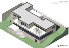 3D Axonometric : Villa Tugendhat, Brno, Czech Republic | Ludwig Mies van der Rohe | Archweb