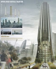 Hyper-Speed Vertical Train Hub : A Futuristic Train Station For The Year of 2075
