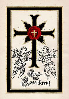 Gold- und Rosenkreuz Carpe Diem, Illuminati, Magick, Pattern Design, Mystery, Spirituality, Symbols, Paganism, Gold