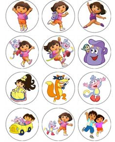 Dora the explorer birthday EDIBLE IMAGE CUPCAKE TOPPERS $5 a dozen!! WOW Dora swiper diego and more
