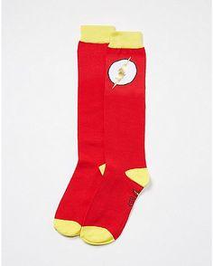 The Flash Foil Logo Knee High Socks - Spencer's