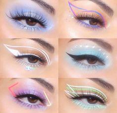 bold eyeliner makeup looks Edgy Makeup, Makeup Eye Looks, Eye Makeup Art, Colorful Eye Makeup, Crazy Makeup, Cute Makeup, Pretty Makeup, Skin Makeup, Eyeshadow Makeup