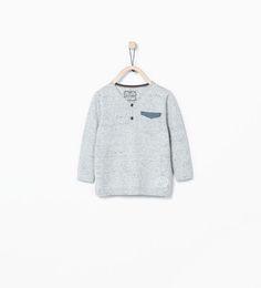 ZARA - KIDS - Denim pocket sweater