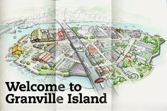 no visit to Vancouver is complete without going to Granville Island Granville Island Vancouver, Vancouver Map, Vancouver Island, Vancouver Things To Do, Vancouver Vacation, Island Life, Island Map, Beautiful Sites, Canada Travel