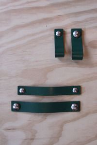 Nu interieur|ontwerp leather Handle green