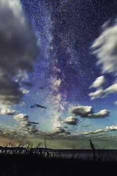 1k landscape upload night galaxy stars clouds milky way Astronomy vertical by DC