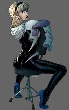 The Astonishing Spider-Gwen - Chris Panda Spider Girl, Spider Man Draw, Marvel Comics Art, Marvel Heroes, Marvel Characters, Marvel Spider Gwen, Spider Gwen Cosplay, Marvel Girls, Comics Girls