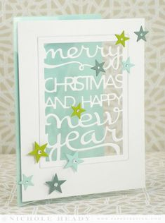 Christmas & New Year Window Card by Nichole Heady for Papertrey Ink (September 2014)