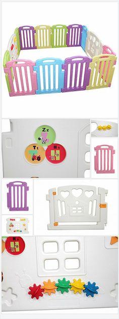 Amazon.com: Baby Playpen Kids 14 Panel Safety Play Center Yard Home Indoor Outdoor Pen: Baby