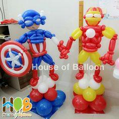 Captain America & Iron Man Balloon Art Twist