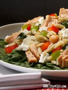 Make it the Gourmet Way! Our Roasted Garlic Orzo Salad recipe should do the trick. [Promotional StarKist Pin]