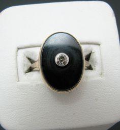 Belle.23 Carat diamant figurant une bague ovale Onyx par alinagifts