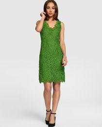 Vestido de mujer Fórmula Joven verde de guipur