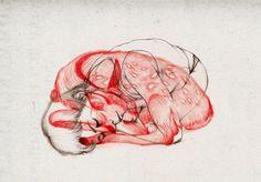 illustration work of Hong Kong based artist Peony Yip, aka The White Deer. Art And Illustration, Animal Illustrations, Turner Artworks, Ouvrages D'art, Canvas Prints, Art Prints, Pablo Picasso, Art Design, Graphic Design