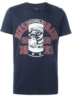 DIESEL Tiger Logo Print T-Shirt. #diesel #cloth #t-shirt