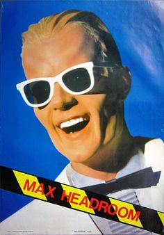 "Max Headroom is a fictional British artificial intelligence (AI), known for his wit and stuttering, distorted, electronically sampled voice. He was introduced in early 1984. The character was created by George Stone,[1] Annabel Jankel and Rocky Morton in the mid-1980s, and portrayed by Matt Frewer as ""The World's first computer-generated TV host,""..."