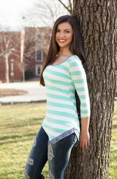 The Pink Lily Boutique - Stripe My Way Mint Blouse, $32.00 (http://thepinklilyboutique.com/stripe-my-way-mint-blouse/)