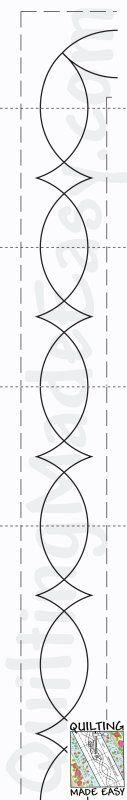 FMQ border template: single line scallop. Includes corner