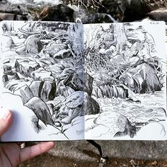 Paul Heaston Glacier Creek, Rocky Mountain National Park. Hero M86 fountain pen…