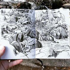Paul Heaston Glacier Creek, Rocky Mountain National Park. Hero M86 fountain pen…